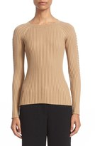 Alexander Wang Women's Pierced Sleeve Rib Knit Top