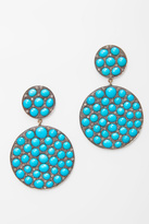 Caviar Dreams Jewelry Collection Round Turquoise Earrings