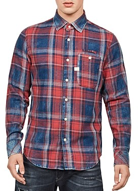 G Star Bristum Slim Fit Plaid Shirt