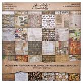 Tim Holtz Scrapbooking Paper Pack - Multicolored