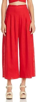 Aqua Side-Button Wide-Leg Pants - 100% Exclusive