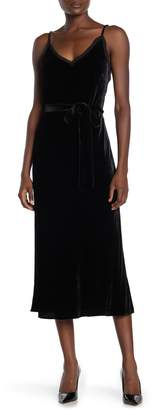 Frame Velvet Tie Waist Slip Dress