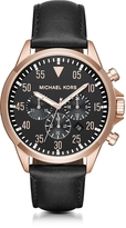Michael Kors Gage Rose Goldtone Stainless Steel Men's Chronograph Watch