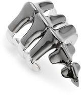 Noir Rhodium Plated Spine Bracelet