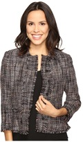 Ivanka Trump Tweed Jacket with Fringe Sleeves
