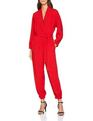 PepaLoves Women's Agatha Playsuit RED Jumpsuit, 0, ('s Size:Large)