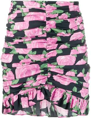 Giuseppe di Morabito Floral Print Ruffled Mini Skirt