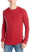 Lucky Brand Men's Lived-In Thermal Crewneck Shirt in Red