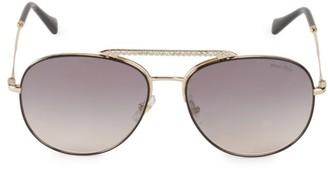 Miu Miu 57MM Embellished Aviator Sunglasses