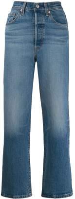 Levi's high rise straight-leg jeans