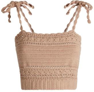 She Made Me Ila Crochet Cami Top