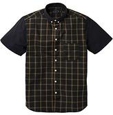 Label J Block Short Sleeve Check Shirt Long