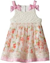 Nannette Baby Girl Lace Floral Bodysuit Dress