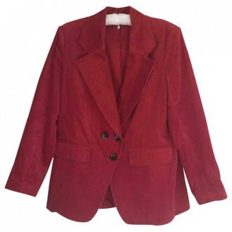 Topshop Tophop Red Cotton Jacket for Women