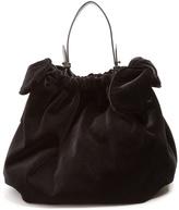 Simone Rocha Double-knot velvet shoulder bag