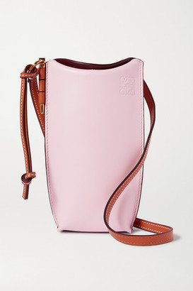 Loewe Gate Mini Color-block Leather Shoulder Bag - Pink