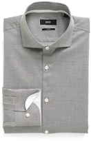 BOSS Men's Slim Fit Dot Dress Shirt