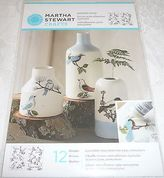 Martha Stewart Paintable Clings 12 Designs Woodland Birds