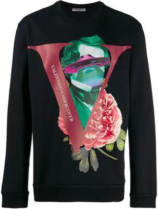 Valentino X Undercover print crew-neck sweater