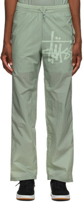 Stussy Green Warm Up Pants