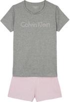 Calvin Klein Logo print cotton-blend T-shirt and shorts pyjama set 4-16 years