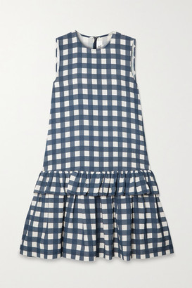 Victoria Victoria Beckham Tiered Gingham Faille Dress