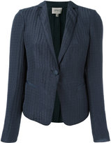 Armani Collezioni embroidered blazer - women - Silk/Linen/Flax/Polyester - 44