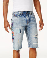 True Religion Men's Ripped Medium Wash Shorts