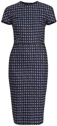 Victoria Beckham Fitted Houndstooth T-Shirt Dress