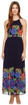 Taylor 8970M Zinnia Print Halter Dress