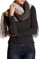 David & Young Colorblock Fringe Scarf