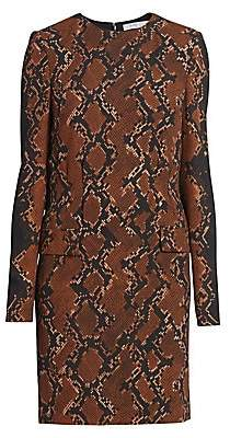 Givenchy Women's Snakeskin-Print Wool-Blend Shift Dress