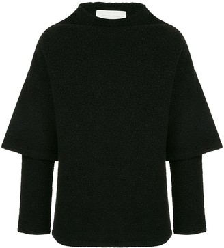 Strateas Carlucci Hybrid Oversized Short Sleeve Sweater