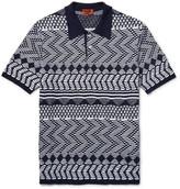 Missoni - Crochet-knit Cotton Polo Shirt