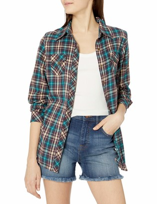 Angie Women's Plaid Button up Top