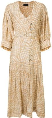Eudon Choi Geometric-Print Shirt Dress
