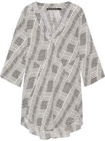 Vix Fany Printed Voile Tunic - Black