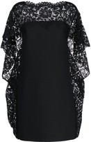 Valentino cape-style lace-embellished dress
