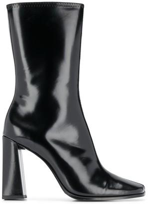 BY FAR High-Heel Mid-Calf Boots