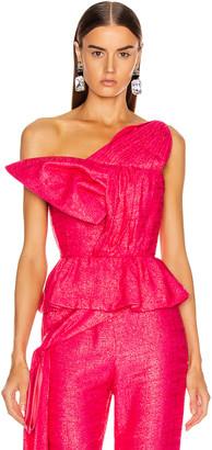 Hellessy Kempner Bustier Top in Shocking Pink | FWRD