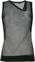 Neil Barrett fishnet tank top