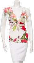 Roberto Cavalli Silk-Trimmed Floral Top