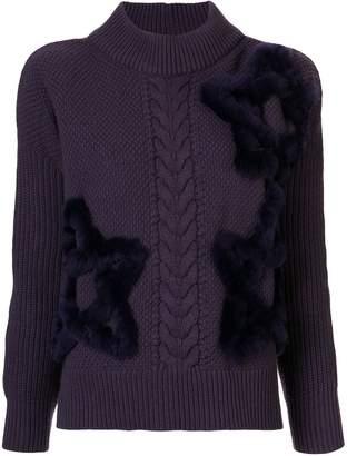 Lorena Antoniazzi star embroidered jumper