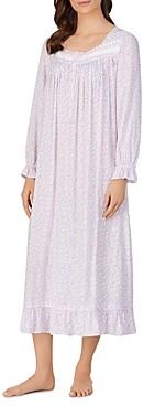 Eileen West Floral Dream Long Sleeve Ballet Nightgown