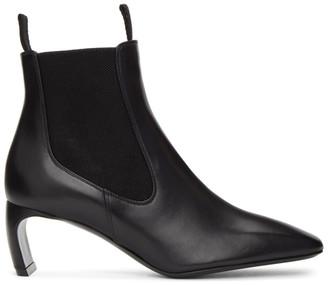 Lanvin Black Banana Heel Boots