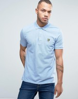 Lyle & Scott Pique Polo Regular Fit Eagle Logo in Light Blue Marl