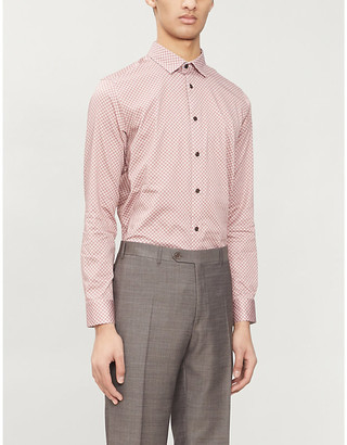 Ted Baker Graphic-print regular-fit stretch-cotton shirt