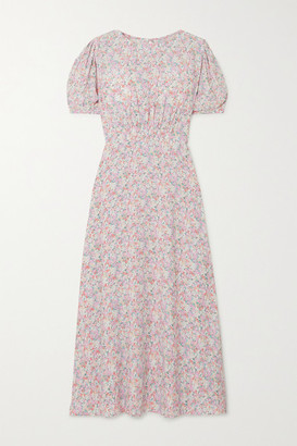 Faithfull The Brand Beline Floral-print Crepe Midi Dress - Baby pink