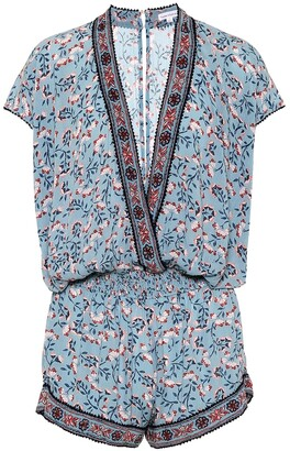 Poupette St Barth Amora printed playsuit