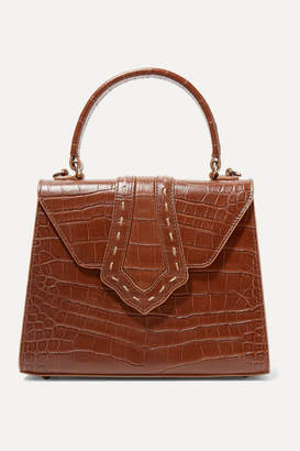 Mehry Mu - Fey Croc-effect Leather Tote - Brown